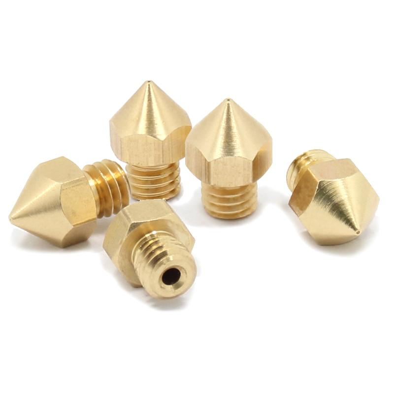 5Pcs 8x13mm MK8 Extruder 3D Printer Nozzle for 3.00mm Filament Nozzle CTC Wanhao MK9 3D Printer Replacement Parts