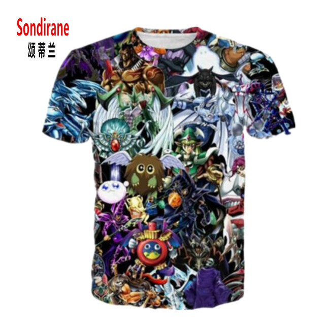 37557dd1c3177 Sondirane New Fashion Womens/Mens YuGiOh Monster Funny 3D Print Casual T- Shirt Summer Short Sleeve Tops Comfortable Clothing