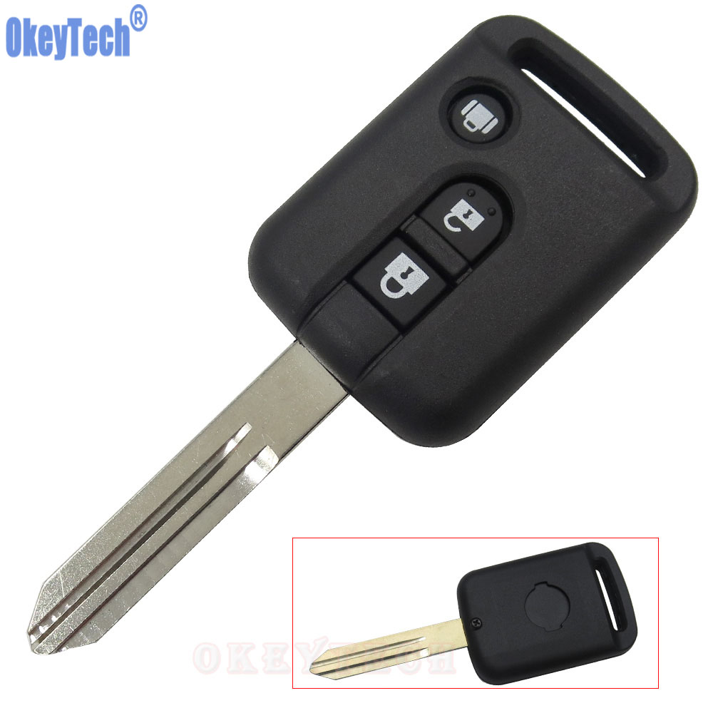 OkeyTech 3 Button Replacement Remote Car Key Shell For Nissan Micra 350Z Pathfinder Navara Auto Key Cover Case Fob Free Shipping