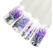 Hot Sale! 2017 New 1pc Lavender Design Nail Art Foil Stickers Transfer Decaration Tips Manicure Tool se6