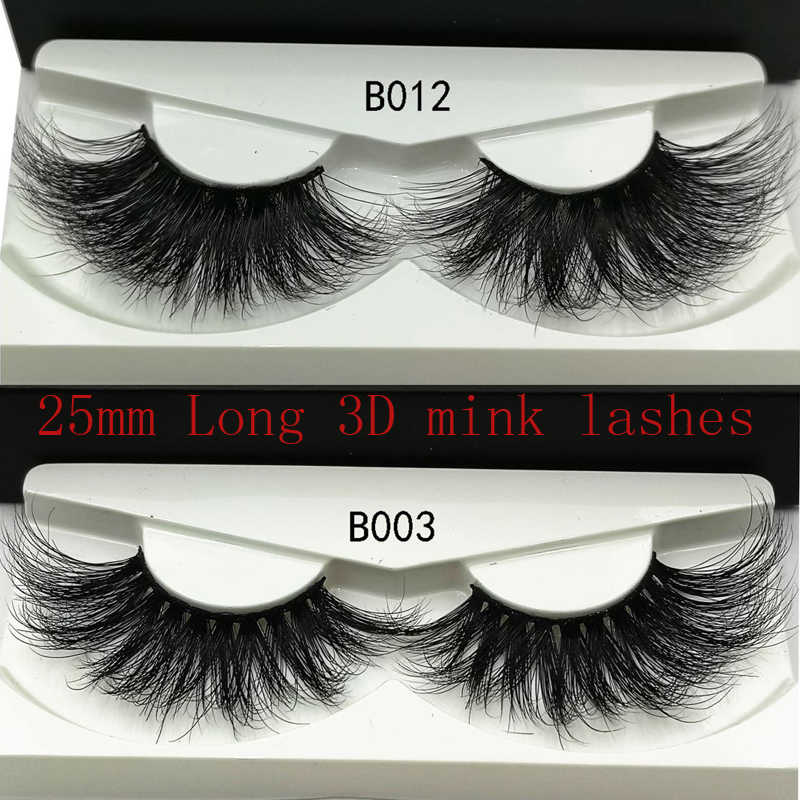 ec64d48ce90 2019 NEW 25mm Long 3D mink lashes extra length mink eyelashes Big dramatic  volumn eyelashes strip