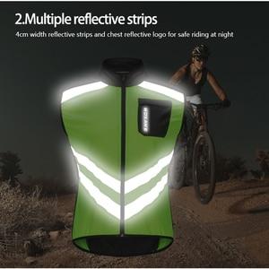 Image 2 - WOSAWE גבוהה נראות MOTO מעיל רעיוני אפוד מוטוקרוס מירוץ אפוד לילה רכיבה ריצה מעיל אופנוע בטיחות בגדים