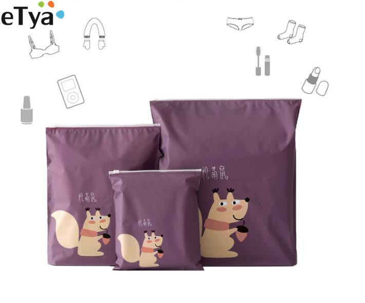 eTya Travel Women PVC Cosmetic Bags Cartoon Cute Make Up Bag Organizer Wash Clothes Storage bag Toiletry Kits Makeup Case Pouch 3pcs set women transparent cosmetic bag clear zipper travel make up case makeup beauty organizer storage pouch toiletry wash bag