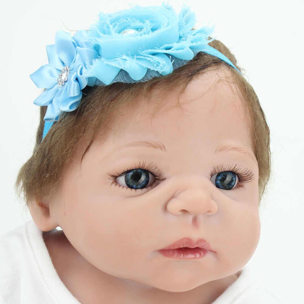 Reborn Baby Doll 22 polegada Reborn Realista Vinil Silicone de Corpo Inteiro Lifelike Bebês Princesa lol Brinquedos Bonecas Presente Kaydora