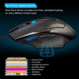 Image 3 - TeckNet السلكية الألعاب ماوس مريح الفئران 6 زر ماوس الكمبيوتر البصرية 2000 ديسيبل متوحد الخواص USB السلكية ماوس لجهاز الكمبيوتر المحمول