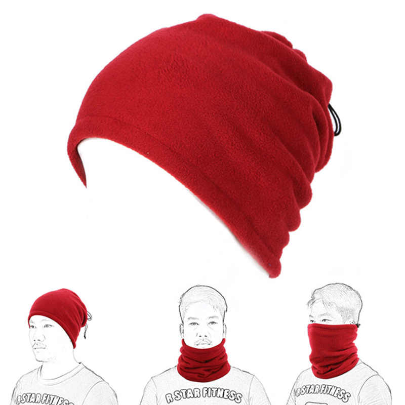 Da trekking Sciarpa Cappello di Campeggio Viso Maschera Ciclo Polar Fleece Outdoor Balaclava Snood Collo Ghetta Scaldino Del Collo Del Tubo Viso Maschera Copricapi