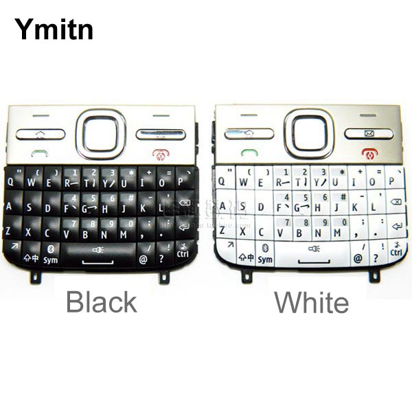 White/Black 100% Original New Housing Cover Keypads Keyboards English&Russian&Arabic For Nokia E5 E500 E5-00