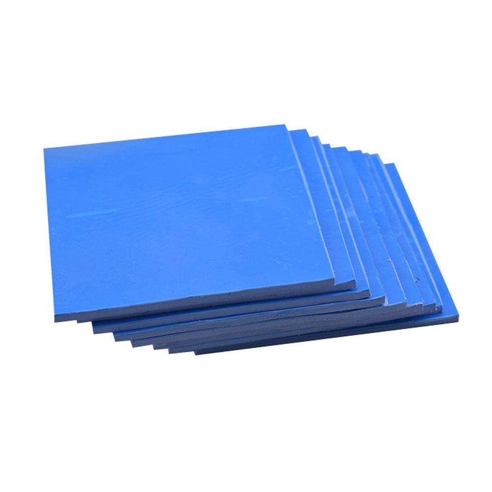 New GPU CPU Heatsink Cooling Conductive Silicone Pad 100mm100mm1mm Thermal Pad Blue
