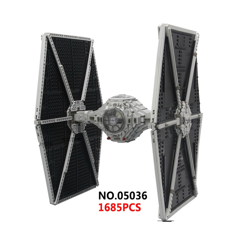 Dhl Free Lepin 05036 Star Series Plan Tie Toys Fighter Building Educational Blocks Bricks Compatible Children boy Gift new 1685pcs lepin 05036 1685pcs star series tie building fighter educational blocks bricks toys compatible with 75095 wars