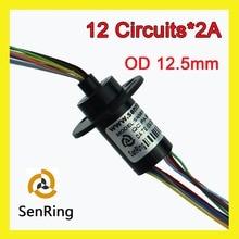 Slipring Mini Cápsula anel coletor Senring Dia.12.5mm 12 Canal 2A