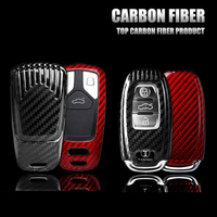 Real Carbon Fiber Car Styling Auto Key Protection Cover Case For Audi C6 A7 A8 R8 A1 A3 A4 A5 Q7 A6 C5 Car Holder Shell