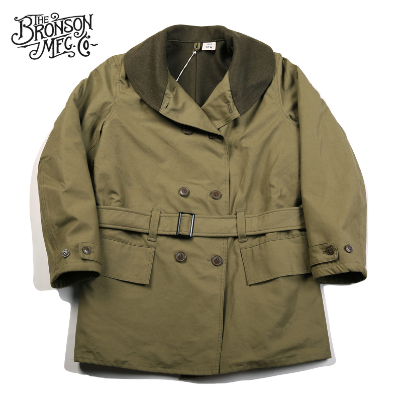 Bronson WW2 Mackinaw Parka Vintage Men's Woolen Lined Jeep Coat Military Uniform