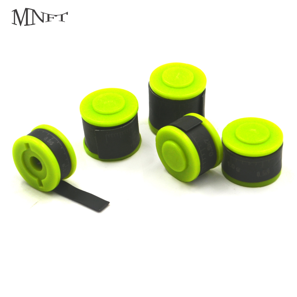 MNFT  2Pcs 0.5MM Scale Lead Environmental Protection Coating Precise Adjust Weight  Fishing Sheet Sinker Lead 5 Models Selection