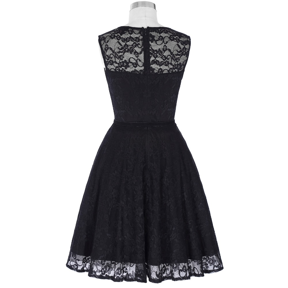7a674a522f4b Elegant Lace Dresses Women Evening Party Sexy Rockabilly Black Dress Summer  Sleeveless Retro Wiggle 1950s Vintage Dress Vestidos-in Dresses from Women s  ...