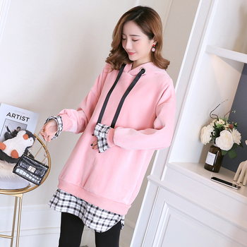 Maternity Sweatshirt Outwear Winter Autumn Hoodies Pullovers For Pregnant Women Pregnancy Clothes Female Clothing Tops