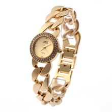 цены на 2016 New Fashion G&D Women Watch Wrist Watch Stainless Gold Single Chain Bracelet Watch  Quartz Analog Wrist Watches Today's Day  в интернет-магазинах