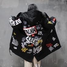 Хип-хоп пальто Для женщин Star Зимняя одежда хип-хоп пальто мода цветы куртки Us размеры s-xl