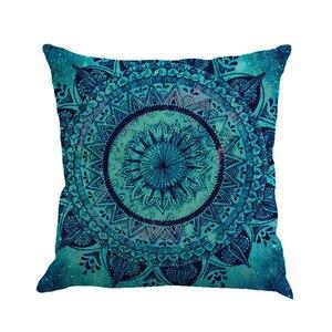 Image 1 - Разноцветная льняная наволочка с геометрическим рисунком 45 см * 45 см, удобная диванная квадратная наволочка для подушки, украшение для дома