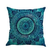 Funda de cojín de lino Multicolor con pintura geométrica, 45cm x 45cm, funda de cojín cuadrada cómoda para sofá, decoración del hogar para cama
