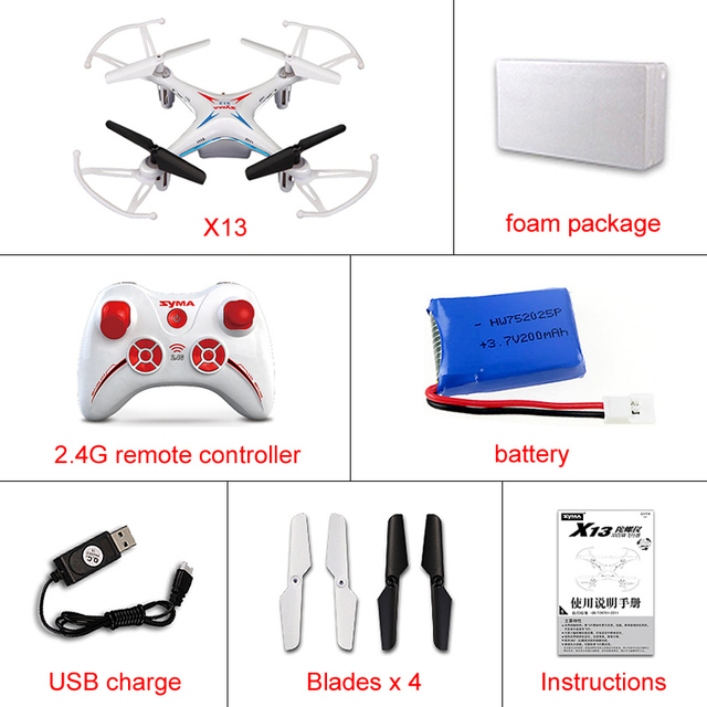100% Original SYMA X13 Storm Mini RC Quadcopter 2.4G Drone 6-Axis Headless Helicopter Toys Gift VS H22 H21 H8 Mini