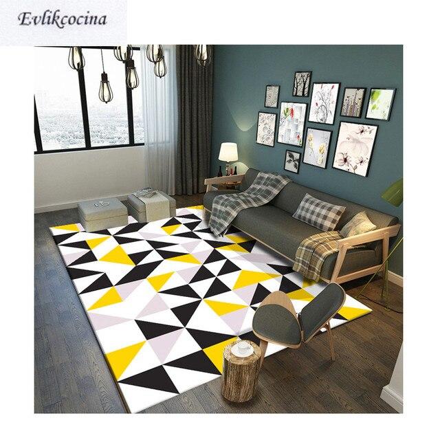 Free Shipping Black White Yellow Carpet Room Area Rug Floor Mat For ...