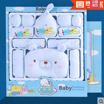 2015 hot Newborn Gift Baby Clothing Set For 0 6M Baby Boy Girl Clothes Set 100