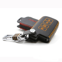 Car Key Case Cover For Toyota Camry 2012 Genuine Leather Car Key Cover Chain Ring