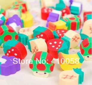 Free Shipping  School Eraser Children Colorful Fruit  Eraser Stationery Mixed Style Fruit Eraser 100 Pieces Per Lot
