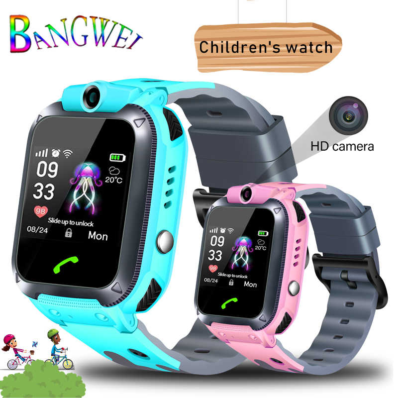 2019BANGWEI Smart watch LBS Kid Smart Watches Baby Watch for Children SOS Call Location Finder Locator Tracker Anti Lost Watches