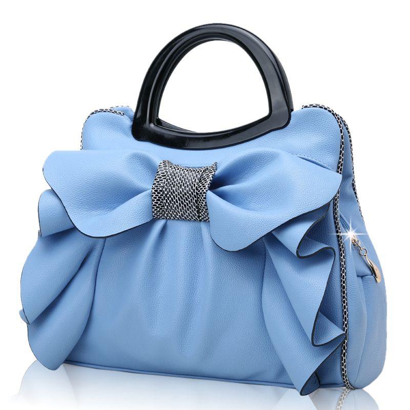 Por Women S Handbag Sweet Gentlewomen Nice Design Shoulder Bag Bow Cross Body Tote