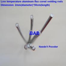 20 PCS 2mm*50cm Low temperature aluminum flux cored welding wire No need aluminum powder Instead of WE53 copper and aluminum rod cheap DasYida Al-Al Al-Cu brazing(Radiator refrigerator heat exchanger and AC) 2mmx50cm 430-490 degree Celsius 15 Aluminum Aluminum Alloy