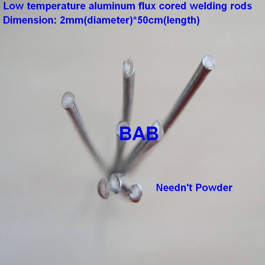 20 PCS 2mm*50cm Low Temperature Aluminum Flux Cored Welding Wire No Need Aluminum Powder Instead Of WE53 Copper And Aluminum Rod