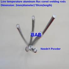 20 PCS 2mm*50cm Low temperature aluminum flux cored welding wire No need aluminum powder Instead of WE53 copper and aluminum rod(China)