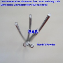 20 PCS 2mm*50cm Low temperature aluminum flux cored welding wire No need aluminum powder Instead of WE53 copper and aluminum rod