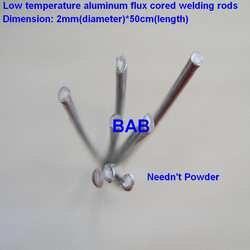 20 шт. 2 мм * 50 см низкая температура Алюминиевый порошковая сварочная проволока нет необходимости алюминиевый порошок вместо WE53 меди и