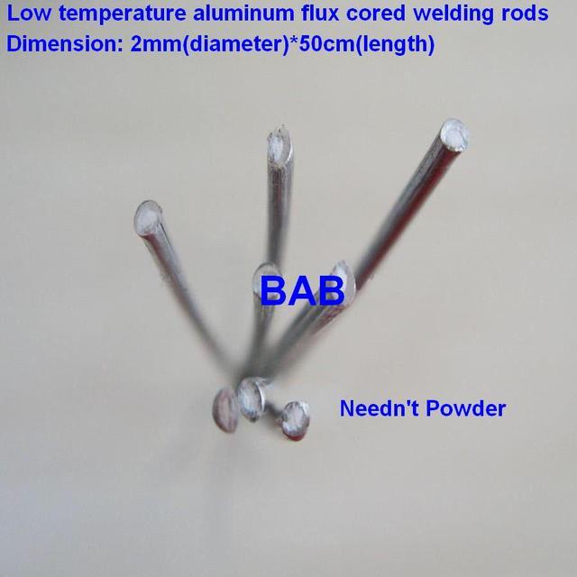 20 PCS 2mm*50cm Low temperature aluminum flux cored welding wire No ...