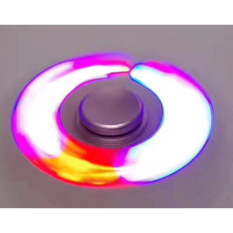 2017 Finger Gyro Fidget Spinner Rotating Spiral High Speed American Adult Toy ABS Luminous Fidget SpinnerL55
