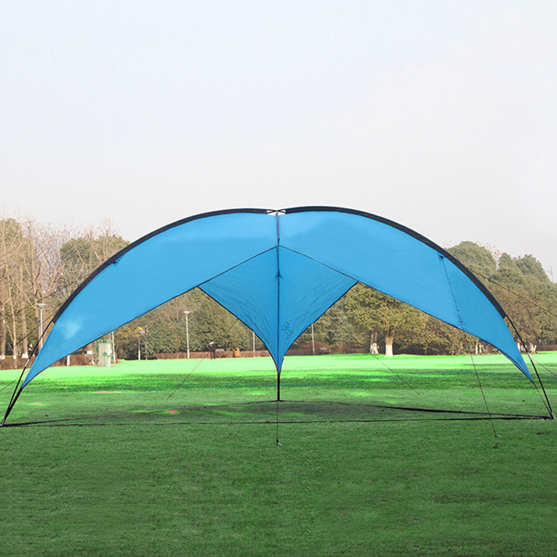 Outdoor Camping defence Shade barbecue sunshade Sandy beach Tent Sun Shelter fishing canopy Hunting Picnic Park Orange Blue outdoor double layer 10 14 persons camping holiday arbor tent sun canopy canopy tent