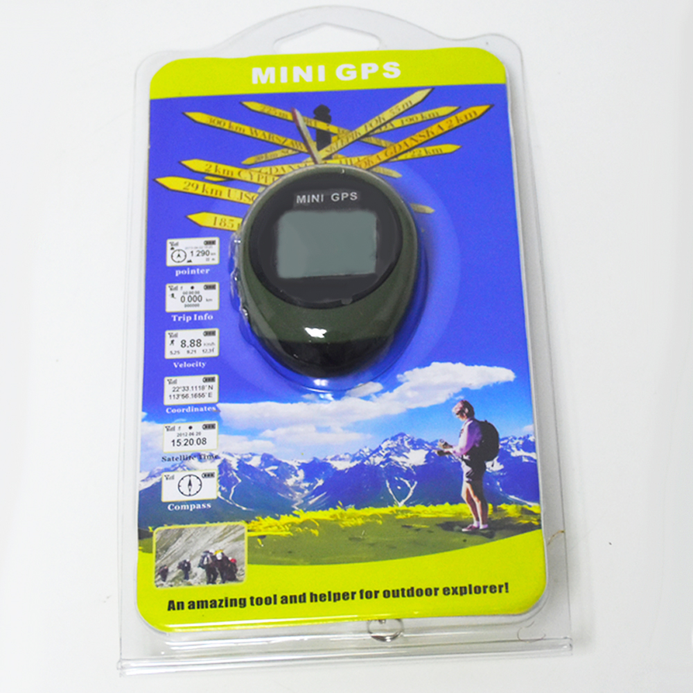 Klatring Håndholdt Mini GPS Navigation Nøglering PG03 USB Genopladelig Placering Tracker Kompas til udendørs rejse værktøj