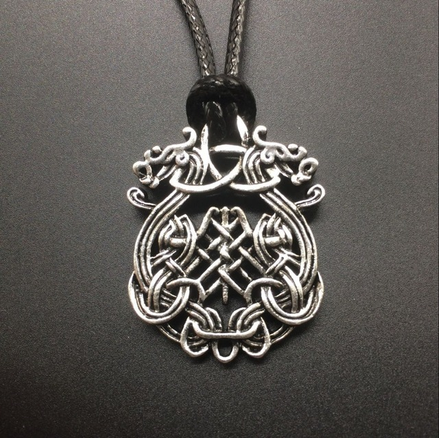 Viking jewelry silver celtic dragon necklace pendant in pendant viking jewelry silver celtic dragon necklace pendant aloadofball Choice Image