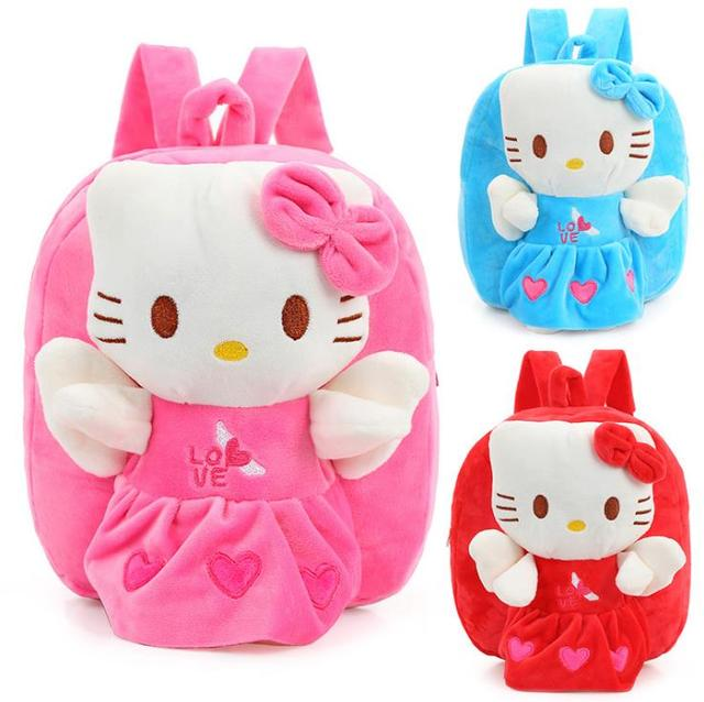 441a390ae248 Wholesale and Retail Hello Kitty Toddler Kids Children Boy Girl Cartoon  Backpack Schoolbag Shoulder Bag Plush Toy Bag