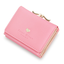 Women Wallet Female Purse Students Coin TriFold Short Paragraph Multifunctional Leather Card Holder