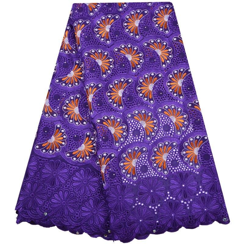 Color púrpura nigeriano telas de encaje africana de 2018 suizo de la gasa de alta calidad suizo de la gasa de encaje en Suiza para la boda F1296-in encaje from Hogar y Mascotas    1