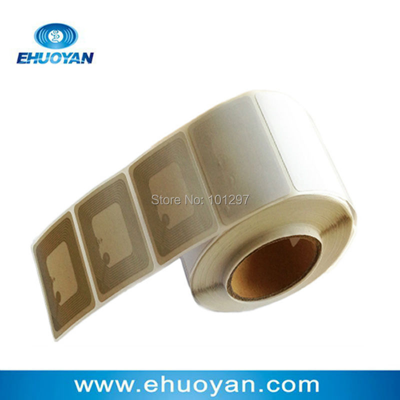 <font><b>100</b></font> pcs/Lot Rfid Label/sticker/Tag Paper Blank 13.56Mhz ISO 15693 I CODE SLIX Square 50*50mm image