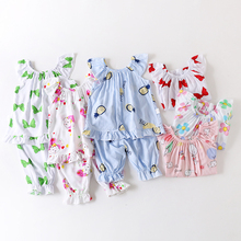 Childrens summer cool and windy cotton set baby artificial suit clothesChildrens