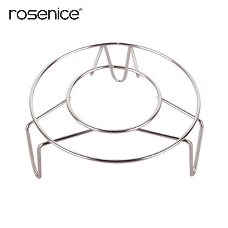 18*3cm Home Kitchen Cooking Pot Steaming Tray Stand Stainless Steel Round Cooker Steamer Rack Stand Cookware Tool