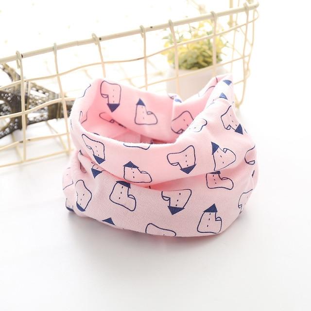 Корейский хлопковый детский шарф, снуд с рисунком, клетчатые шарфы с кольцами для девочек, зимний теплый снуд для мальчиков, детский снуд - Цвет: 5