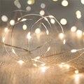 Decoração Do Casamento Do natal Da Bateria Operado Micro Fio de Cobre LED Estrelado Luzes Cordas de Fadas guirlanda Levou impermeável Branco Quente