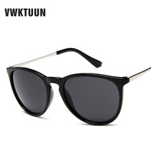 VWKTUUN Vintage Sunglass Round Sunglasses Women Men Brand Designer Sun Glasses for Female Alloy Mirror Sunglasses Oculos De Sol