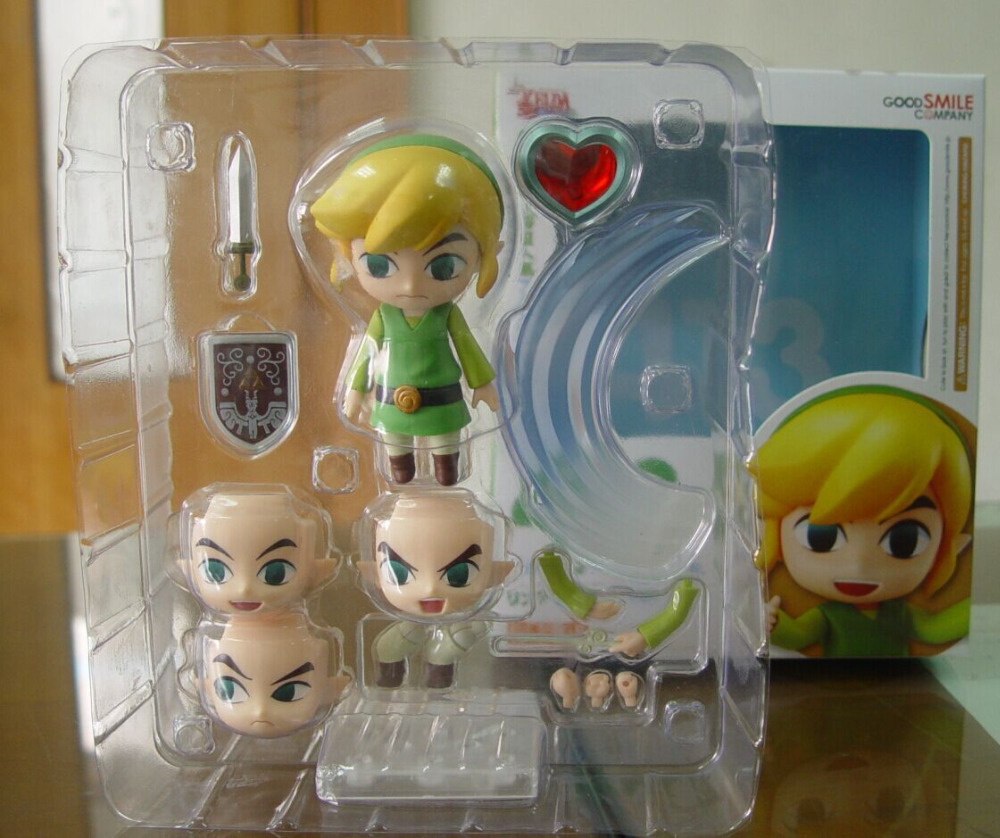 The Legend of Zelda Link Nendoroid Game Legend of Zelda PVC Action Figure 10CM Q Ver. Zelda Link Collectible Model Toy Doll  nendoroid the legend of zelda link majora s mask 3d figure with original box